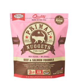 Primal Primal Frozen Raw Beef Salmon Nuggets Cat