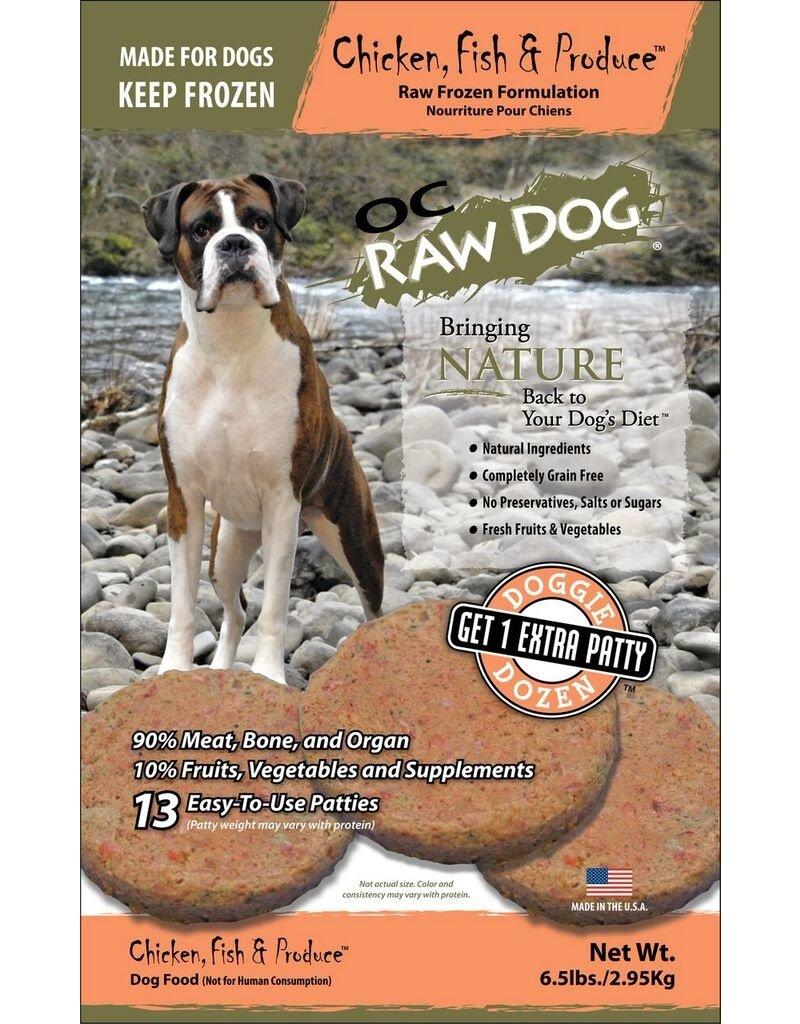 OC Raw OC  Raw Chicken Fish & Produce Patties 6.5lbs