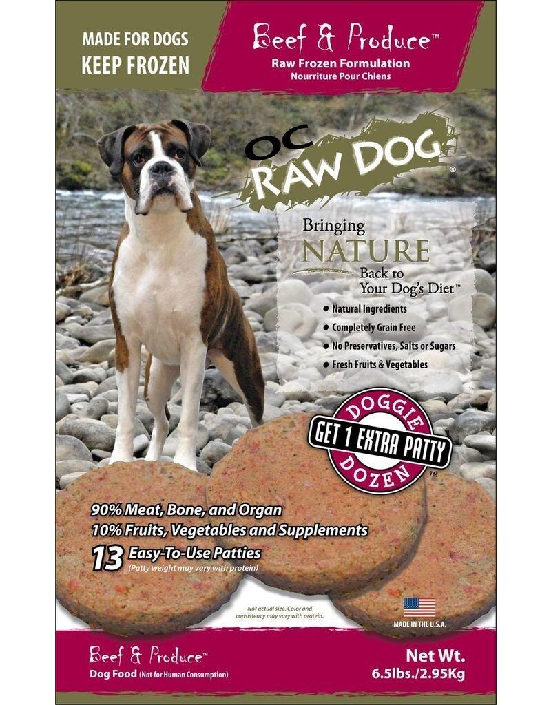 OC Raw OC Raw Beef & Produce Patties 6.5lbs