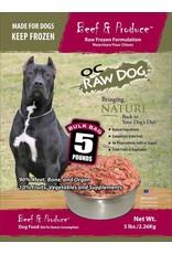 OC Raw OC Raw Beef & Produce Bulk 5lbs