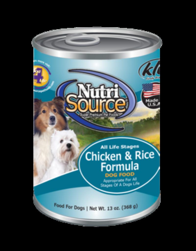 Nutrisource Nutrisource Chicken & Rice 13oz