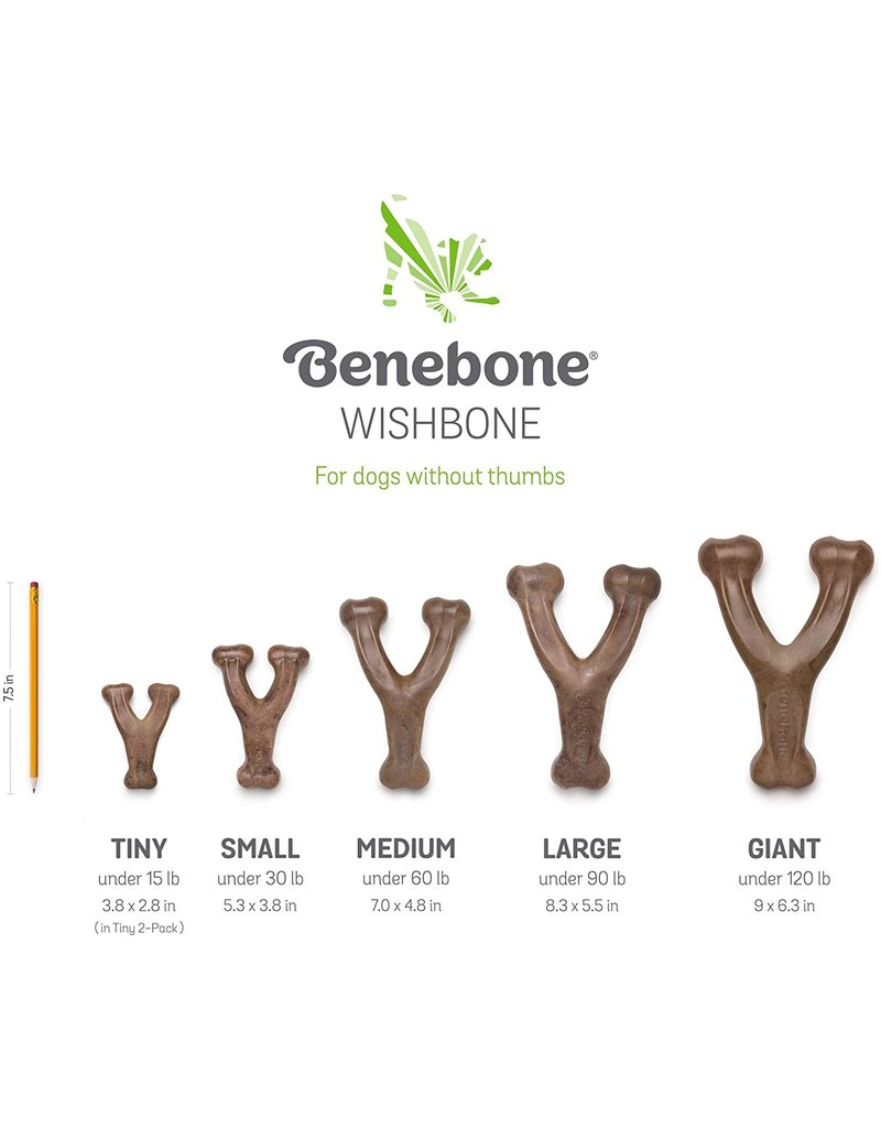 Benebone Benebone Wishbone Medium Peanut Butter