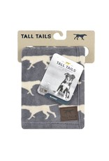 Tall Tails Tall Tails Charcoal Icon Blanket 30x40