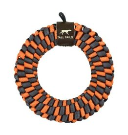 """Tall Tails Tall Tails Braided Ring Orange & Gray 5"""""""