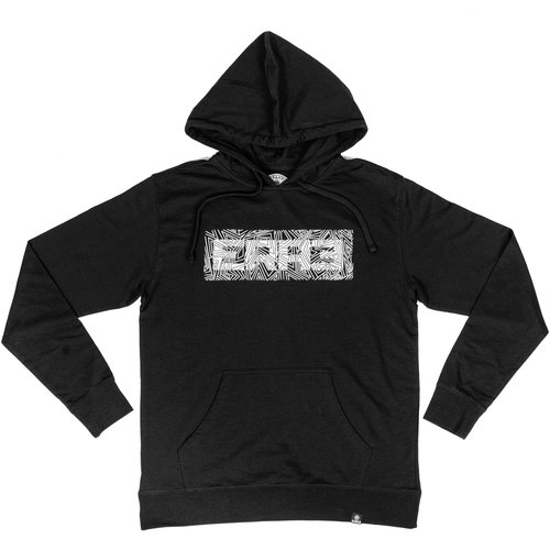 DISTORTION HOODIE - BLACK