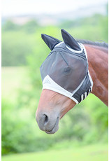 Shires Oversize Fine Mesh Fly Mask Black