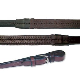 "Nunn Finer 5/8""x 30"" Large Pimple Rubber Reins Havana"