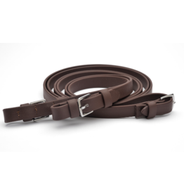 "Dr Cooks 3/4"" Beta Flat Super Grip Reins with Buckles Brown"