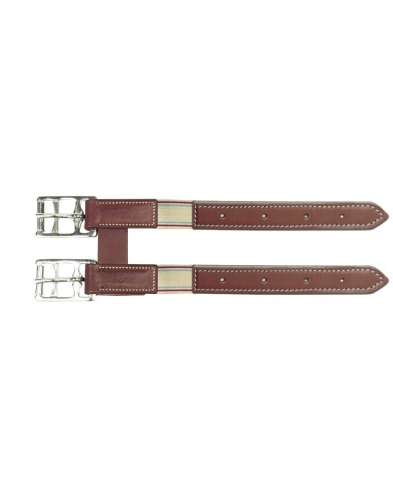 Camelot Girth Extender with Elastic Brown