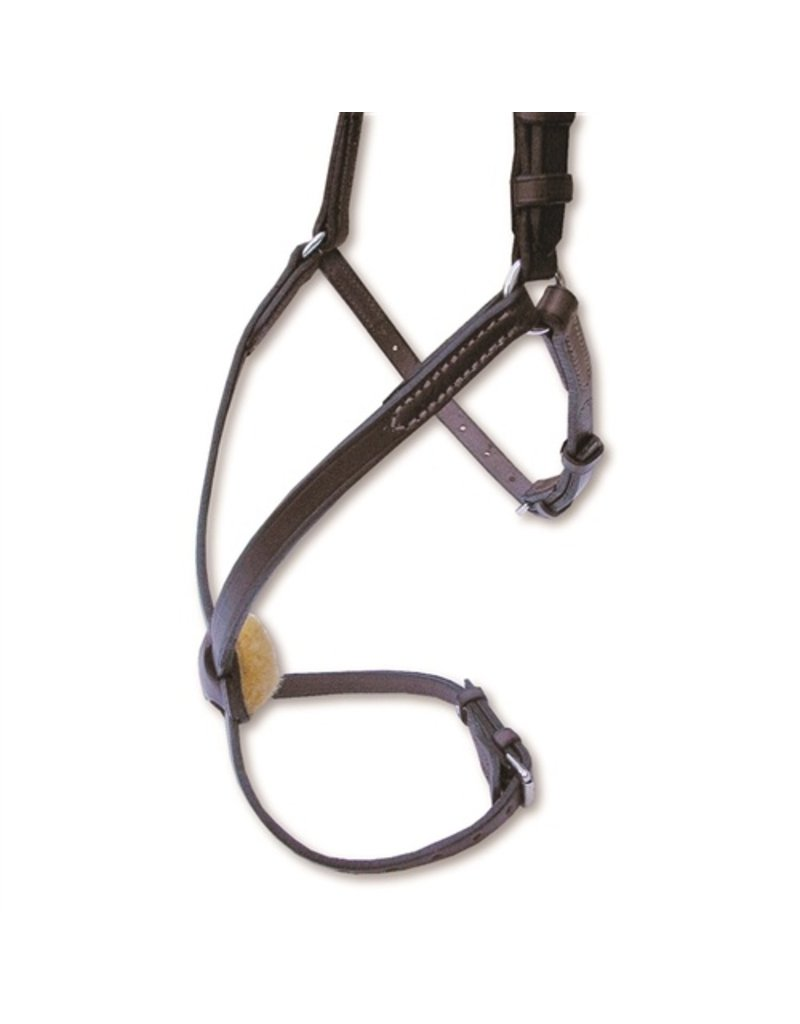 Nunn Finer Oversize Figure 8 Noseband with Rings Havana