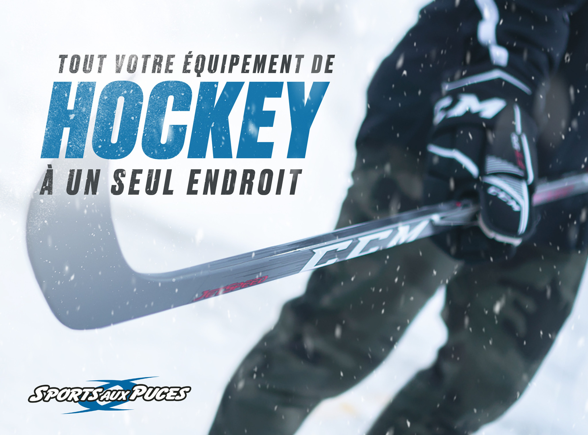 Équipement de hockey un endroit