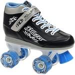 Roller Derby Patins à Roues Quad Blazer Noir/Bleu 4