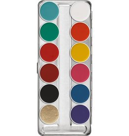 Kryolan Kryolan Aquacolor Palette - 12 Color