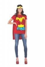 Rubies Costume Wonder Woman T-Shirt w/Cape