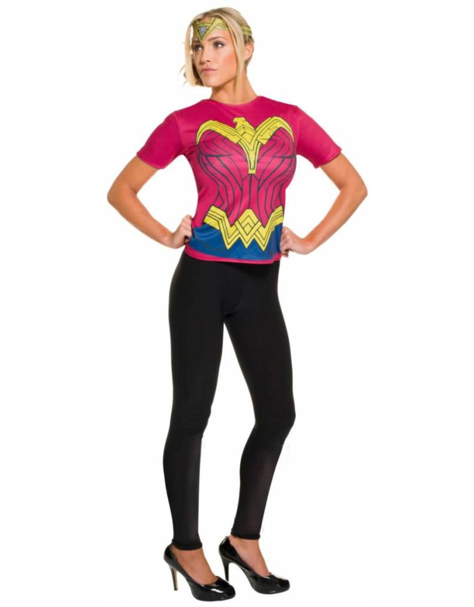 Rubies Costume Wonder Woman T-Shirt w/Headband - Batman V Superman