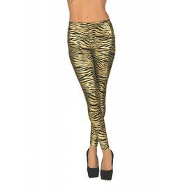 Secret Wishes Gold Zebra Leggings