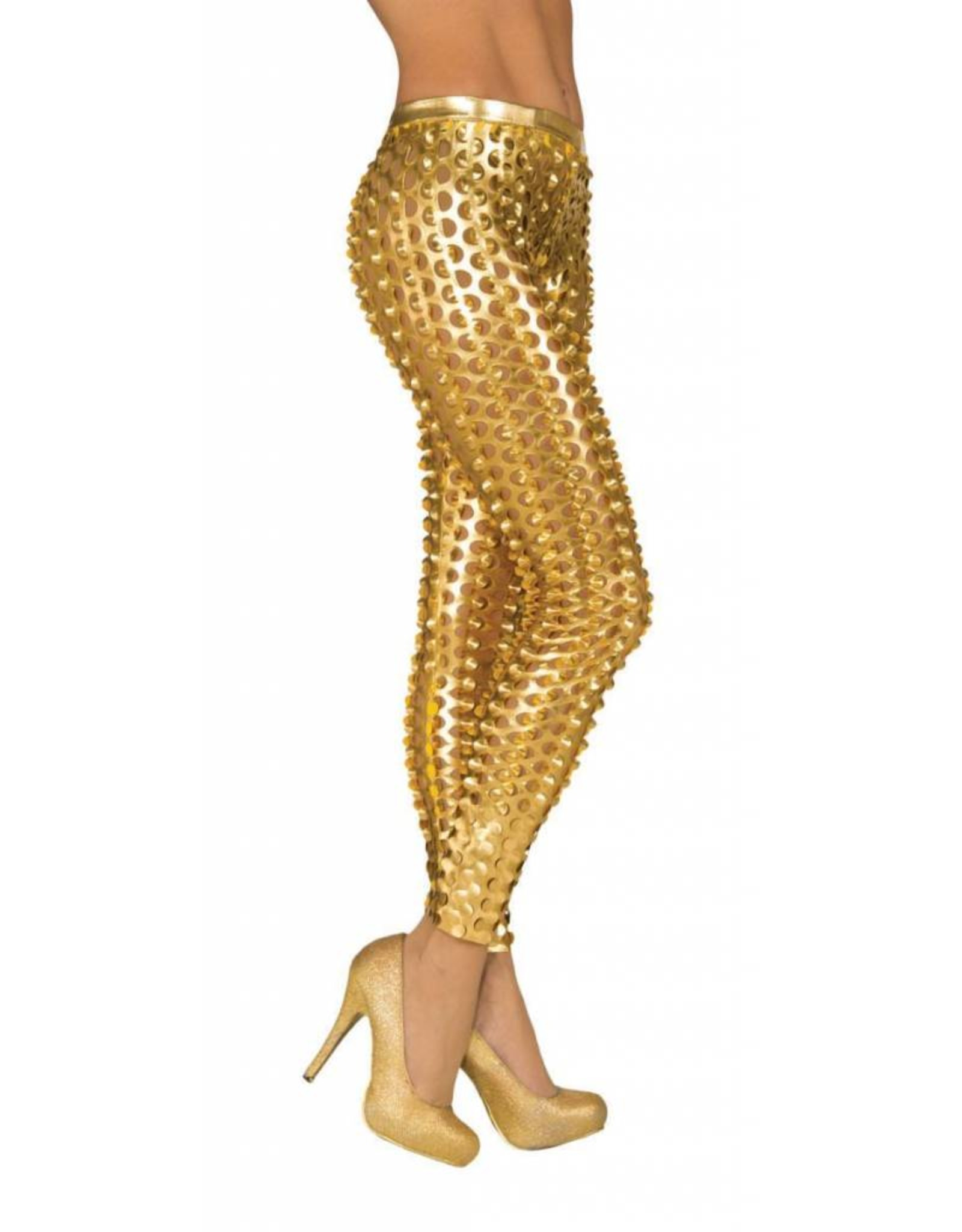 Secret Wishes Gold Pop Star Leggings