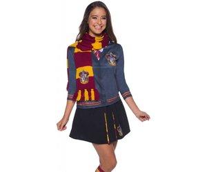 Harry Potter Hermione Deluxe Gryffondor House Crest écharpe accessoire robe fantaisie