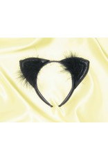 Rubies Costume Faux Black Leather Cat Ears