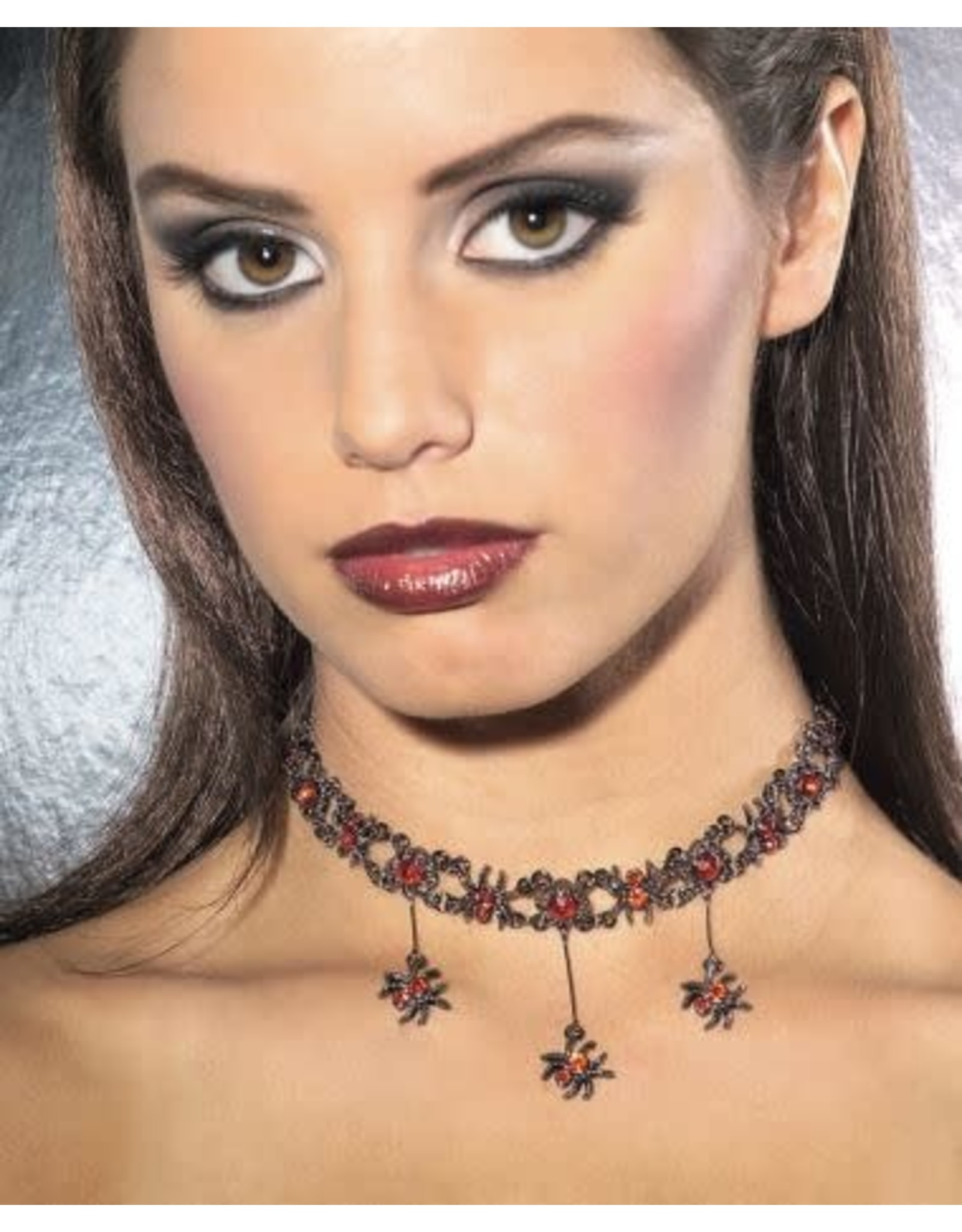 Rubies Costume Red Gothic Spider Necklace