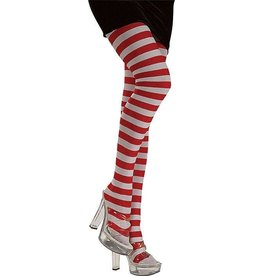 Secret Wishes Red and White Striped Tights
