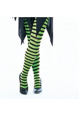 Secret Wishes Green Striped Tights