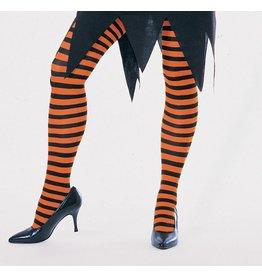 Secret Wishes Orange and Black Striped Tights