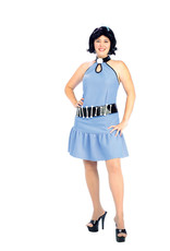 Rubies Costume Plus Size Betty Rubble Dress and Wig