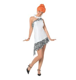 Rubies Costume Deluxe Wilma Flintstone Dress and Wig