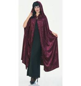 """Rubies Costume 63"""" Burgundy Velvet Cape"""