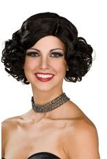 Rubies Costume Black Flapper Wig