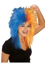 Rubies Costume Blue/Orange Sports Fanatix Wig