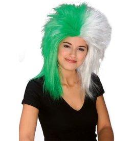 Rubies Costume Green/White Sports Fanatix Wig