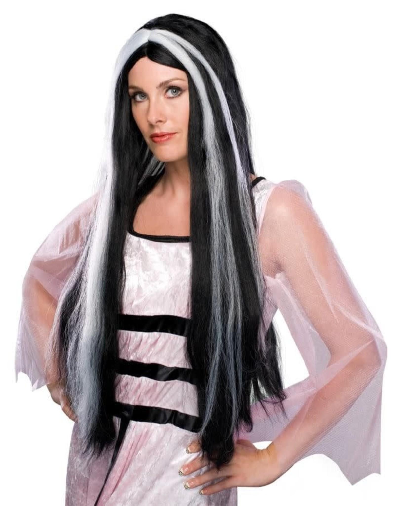"""Rubies Costume 28"""" Streaked Vampira Wig"""