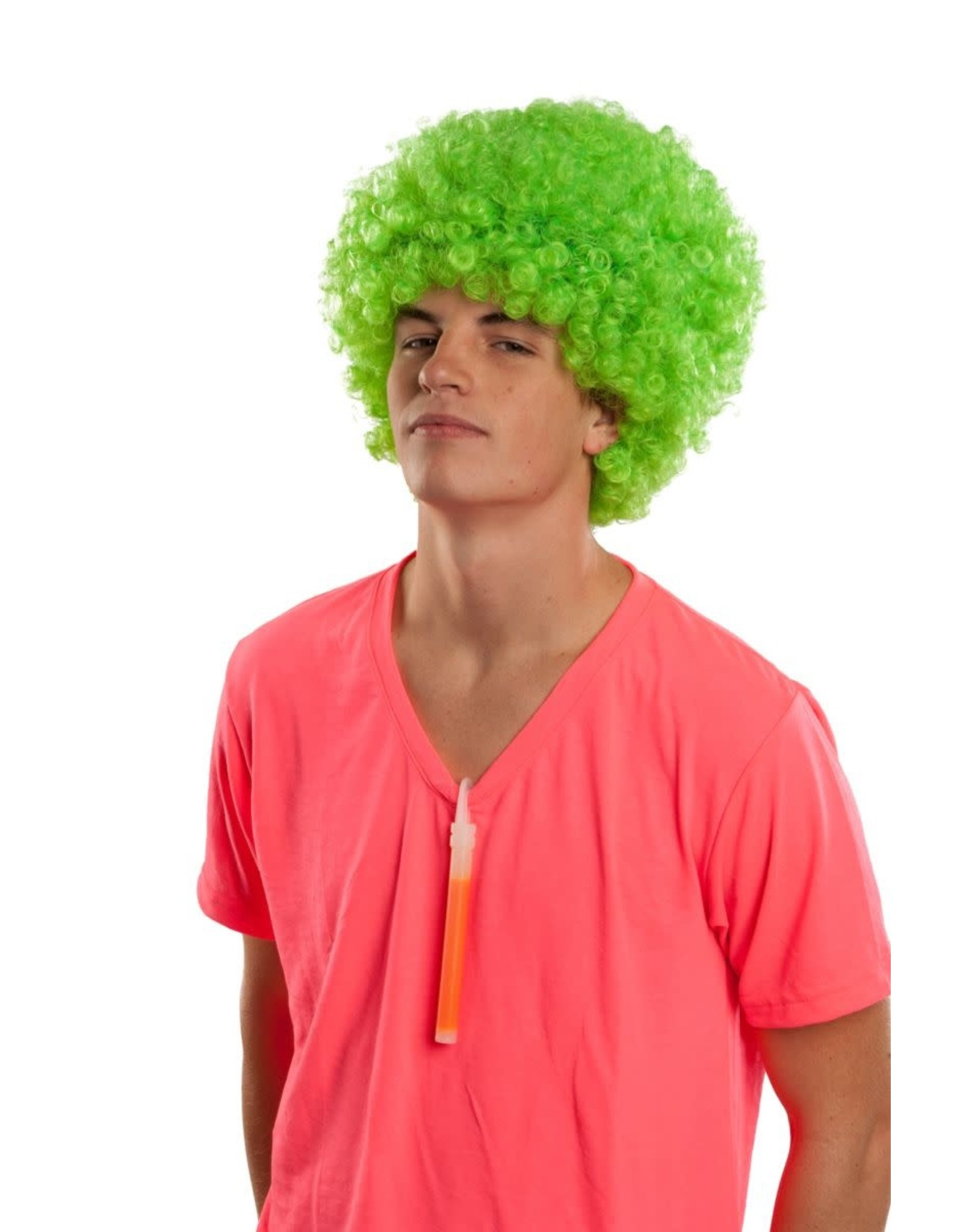 Rubies Costume Neon Green Rave Afro Wig