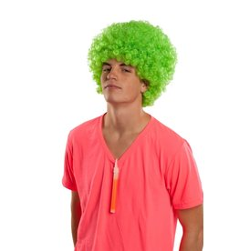Rubies Costume Neon Green Afro Wig