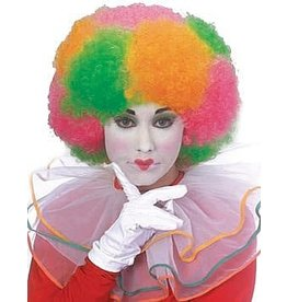 Rubies Costume Neon Multi-Color Clown Wig