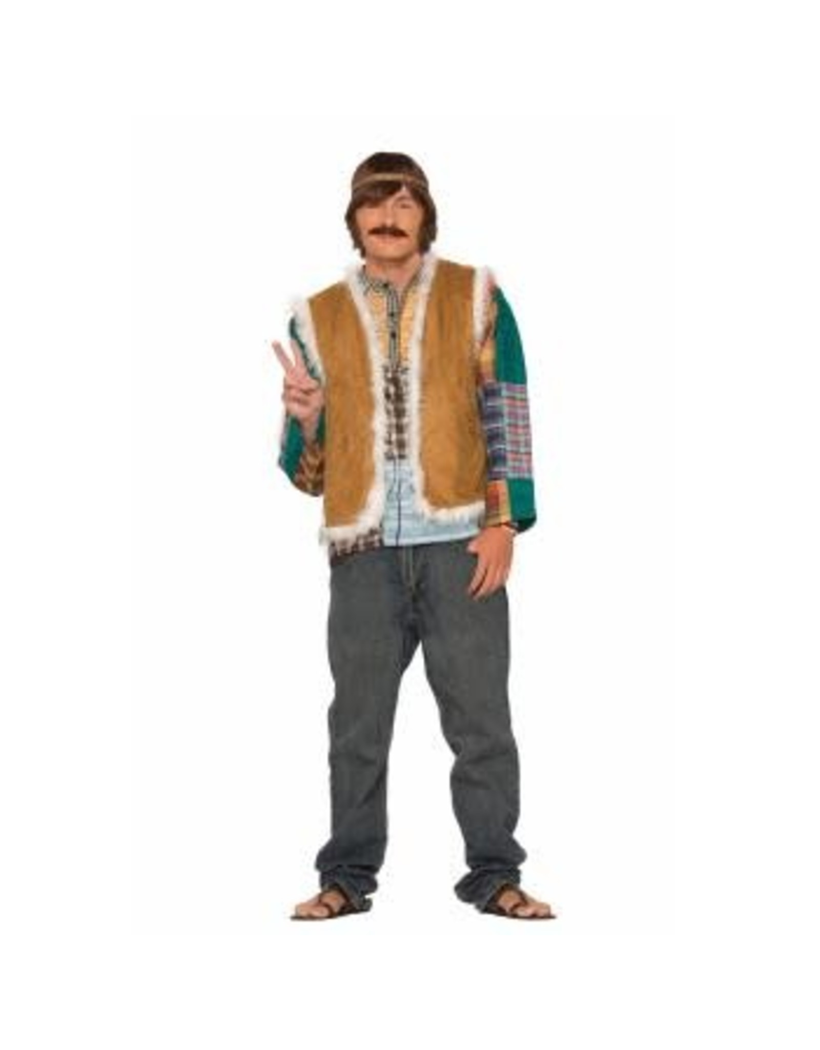 Forum Novelties Inc. Hippie Faux Fur Trimmed vest