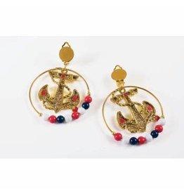 Forum Novelties Inc. Lady in the Navy Hoop Earrings