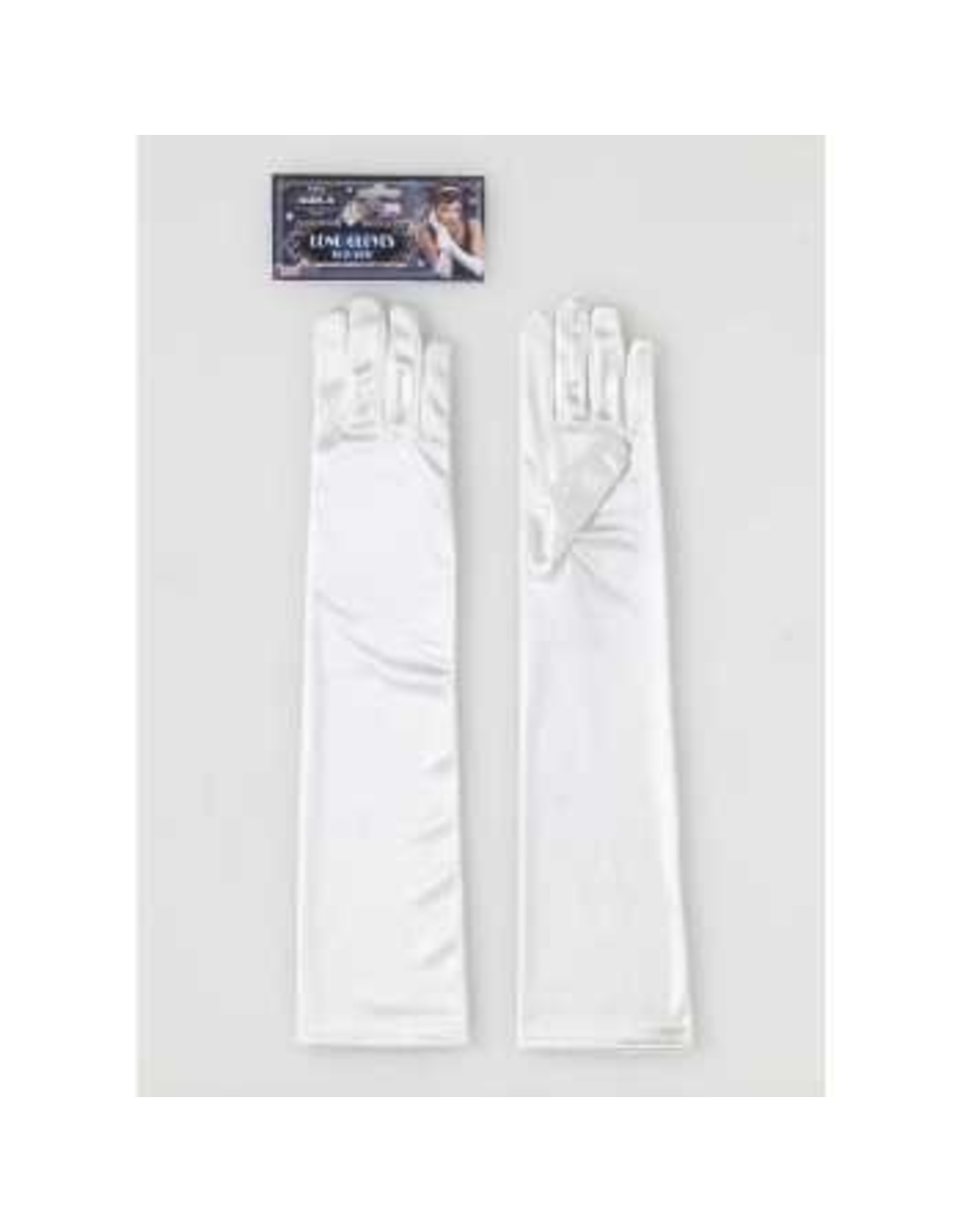 Forum Novelties Inc. Long Beige Satin Gloves