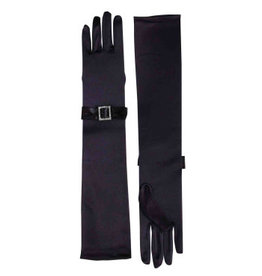 Forum Novelties Inc. Long Gloves w/Rhinestone Buckle