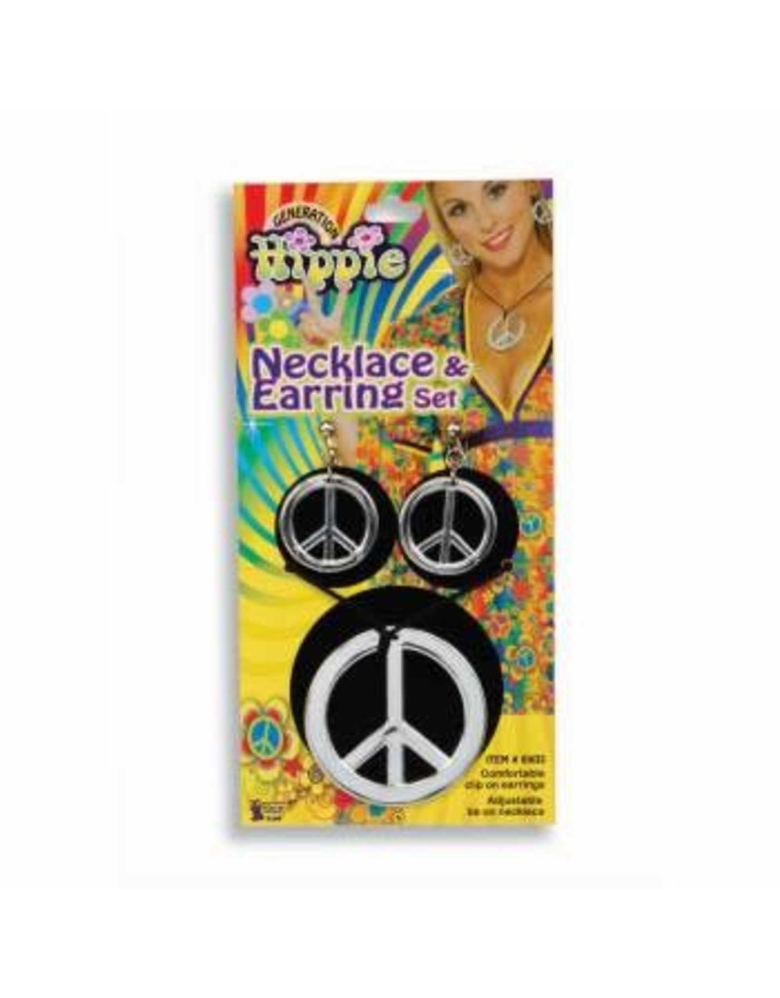 Forum Novelties Inc. Peace Sign Necklace and Earrings