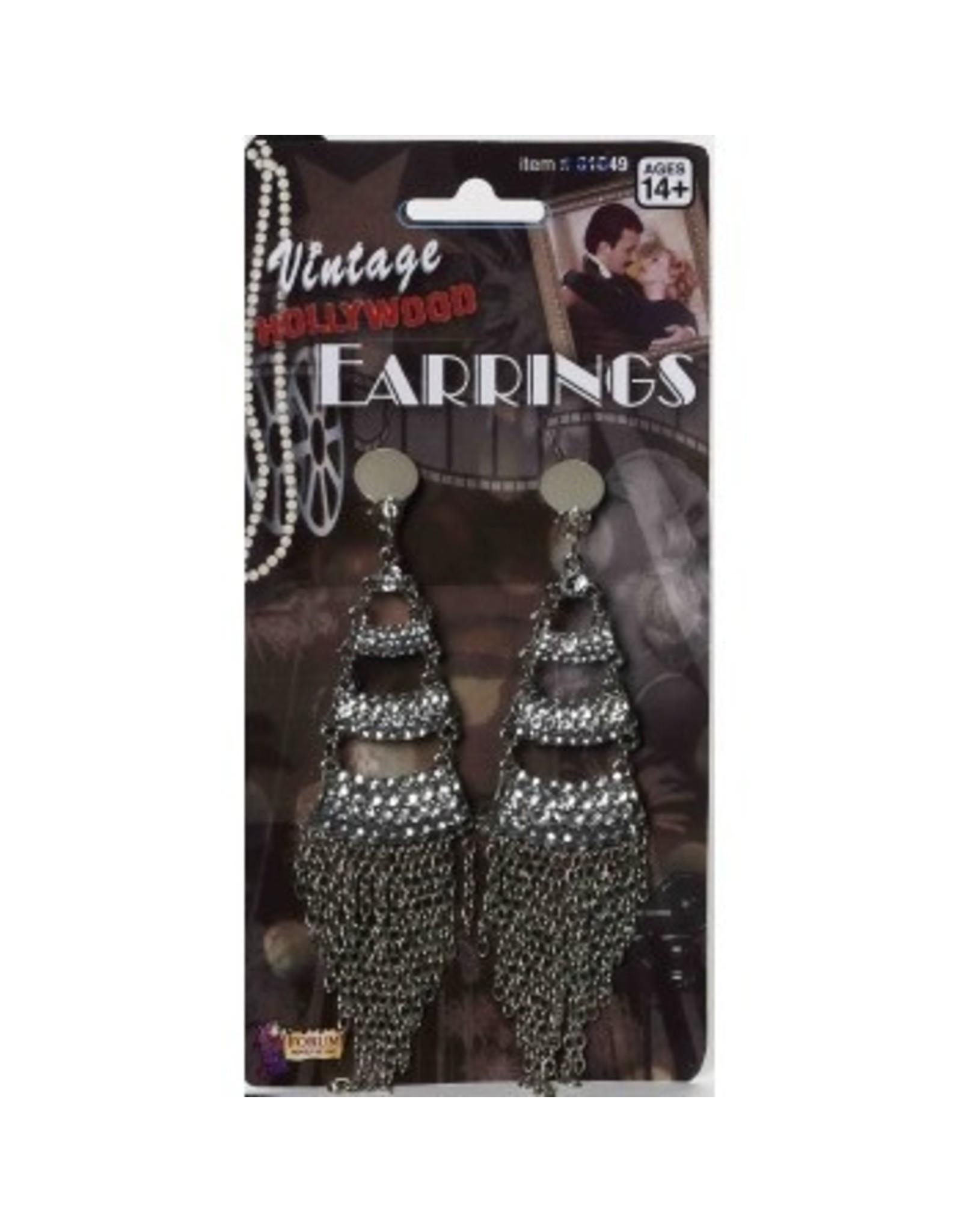 Forum Novelties Inc. Rhinestone and Chains Earrings