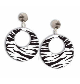 Forum Novelties Inc. 80's Zebra Earrings