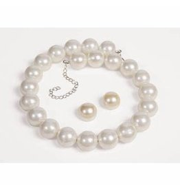 Forum Novelties Inc. 50's Pearl Necklace and Earrings