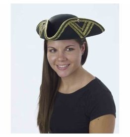 Forum Novelties Inc. Gold Trimmed Tri Corner Hat