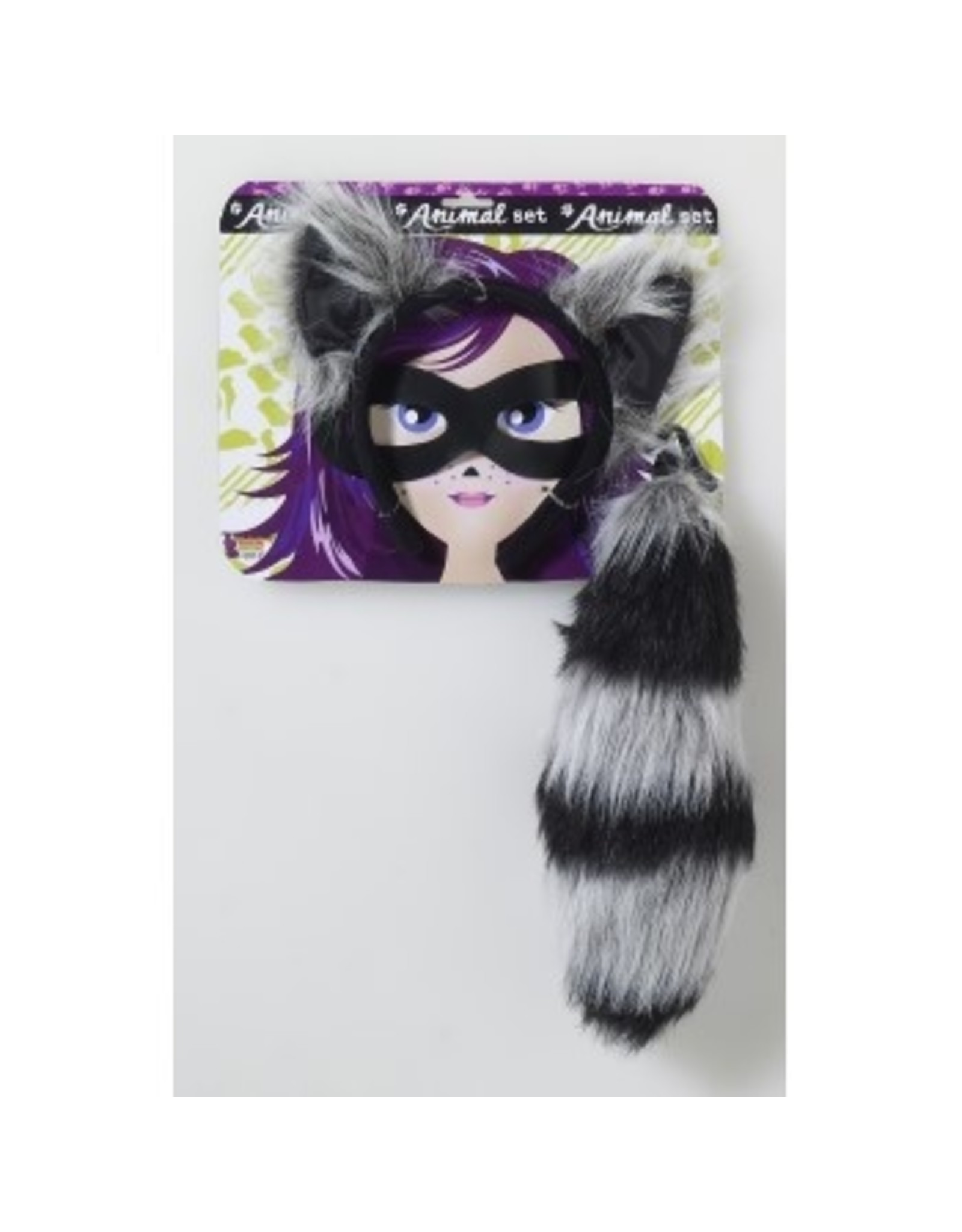 Forum Novelties Inc. Raccoon Headband with Tail and Mask