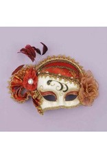 Forum Novelties Inc. Venetian Half Mask with Flower