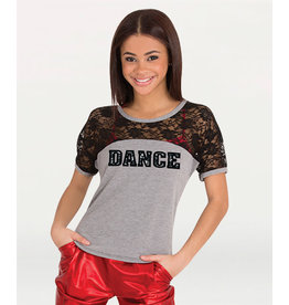 Body Wrappers Lace Tee