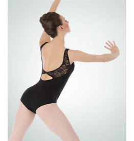 Body Wrappers Black Lace Tank Bodice Leotard